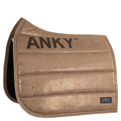 Picture of ANKY® pad Suede Glitter dressuur Tan